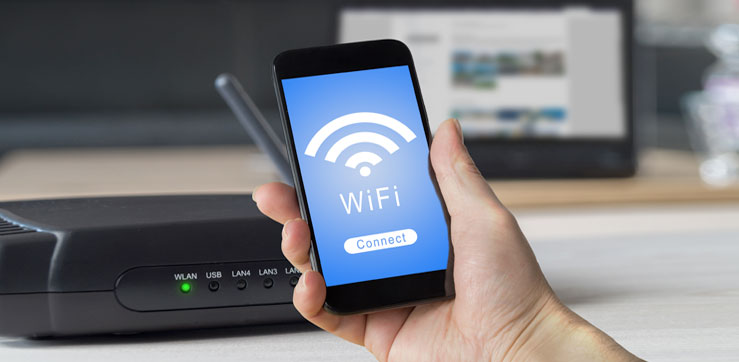 """WiFi Connect"" on smart phone screen"