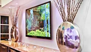 Wall-mounted Flat Screen TV