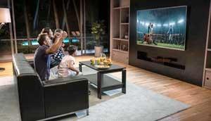 Wall-mounted Flat Screen TV
