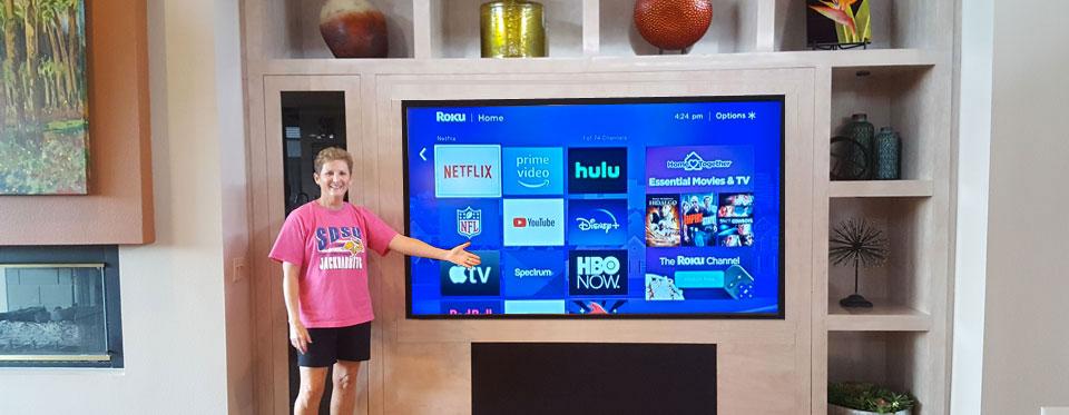 Custom Built-in TV with equipment